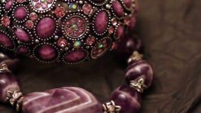 Various jewellery 5 stock footage