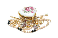 Various jewellery isolated. On white Royalty Free Stock Image