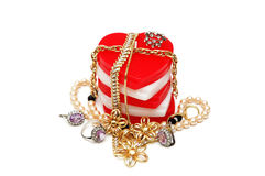 Various jewellery isolated Royalty Free Stock Photography