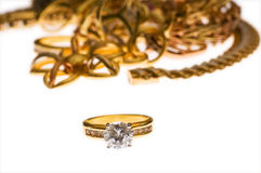 Various jewellery isolated Royalty Free Stock Photo