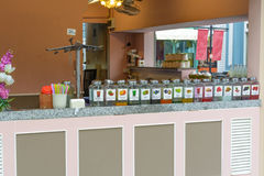 A various juice shop Stock Photo