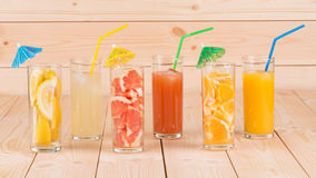 Various juices Royalty Free Stock Photo