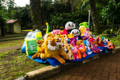 Various kind of animal dolls sells on side the street photo taken in Jakarta Indonesia Royalty Free Stock Photo