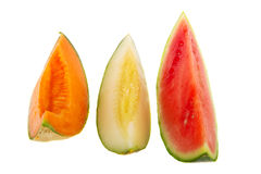 Various kind of melon Royalty Free Stock Image