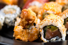 Various kind roll sushi Royalty Free Stock Photography
