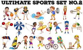 Various kind of sports Royalty Free Stock Photo