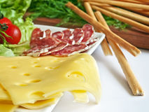 Various kinds of appetizers Stock Photography