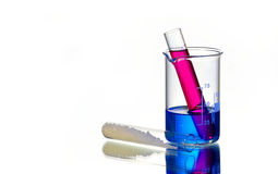 Various Kinds of Chemicals in Test Tubes Royalty Free Stock Image