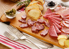 Various kinds of  cured meat Stock Photo