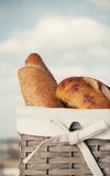 Various kinds of fresh bread. Shallow depth of field. Stock Photo