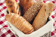 Various kinds of fresh bread. Shallow depth of field. Royalty Free Stock Image