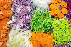 Various kinds of grated salad Royalty Free Stock Photography