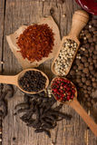 Various kinds of pepper Royalty Free Stock Photo