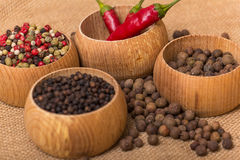 Various kinds of pepper Stock Photos