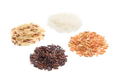 Various kinds of rice Royalty Free Stock Image