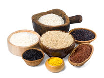 Various kinds of rice Royalty Free Stock Photography