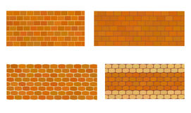 Various kinds of stone wall for garden. Stock Images
