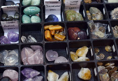 Various kinds of stones and minerals Stock Image