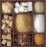 Various kinds of sugar Stock Photography