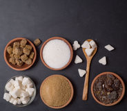 Various kinds of sugar Royalty Free Stock Photo