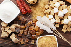 Various kinds of sugar Royalty Free Stock Photography