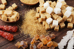 Various kinds of sugar Stock Images