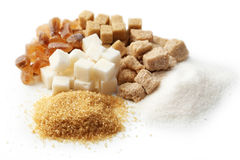 Various kinds of sugar Stock Photo