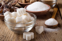 Various kinds of sugar Royalty Free Stock Image