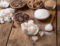 Various kinds of sugar Stock Image