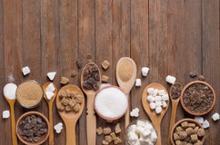 Various kinds of sugar Royalty Free Stock Images