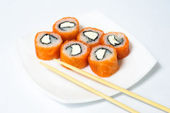 Various kinds of sushi and sashimi Royalty Free Stock Photos