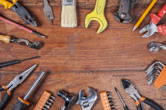 Various kinds of tools, copy space. Various kinds of tools copy space Royalty Free Stock Photo