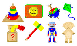 Various toys. Various kinds of toys for children Royalty Free Stock Image