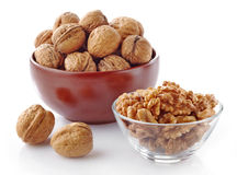 Various kinds of walnuts Stock Photos