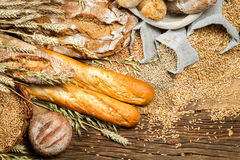 Various kinds of whole wheat bread Stock Photo