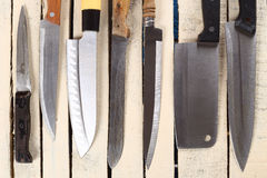 Various kitchen knives Stock Photography