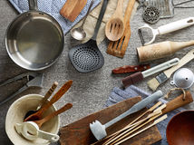 Various kitchen utensils Royalty Free Stock Image