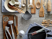 Various kitchen utensils Royalty Free Stock Photo
