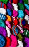 Various knitting wool hat Royalty Free Stock Image