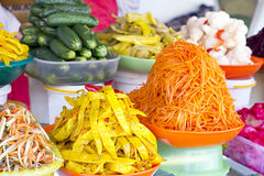Various Korean pickled vegetables Royalty Free Stock Photos