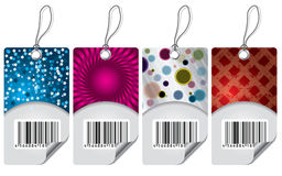 Various labels with bar-code Royalty Free Stock Photo