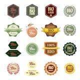 Various Labels Bio Food Stock Images