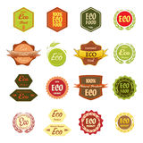 Various Labels Eco Food Royalty Free Stock Photo