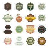 Various Labels Vegan Food Royalty Free Stock Images