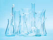 Various laboratory glassware Royalty Free Stock Photo