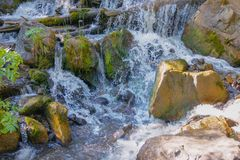 A waterfall of Altai mountains stock images