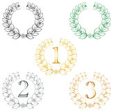 Various laurel wreathes Royalty Free Stock Photography