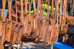 Various leather bags Royalty Free Stock Images