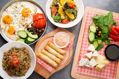 Various lebanese plates / Mediterranean cuisine Royalty Free Stock Image