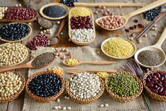 Various legumes for background royalty free stock photo